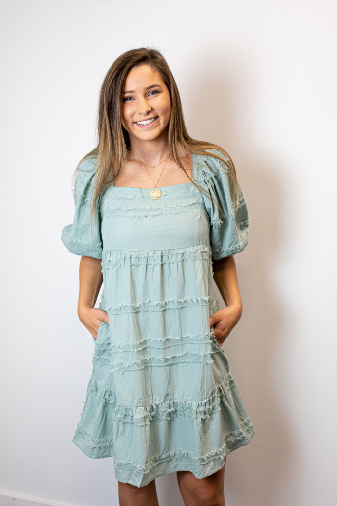 Allie Textured Babydoll Dress