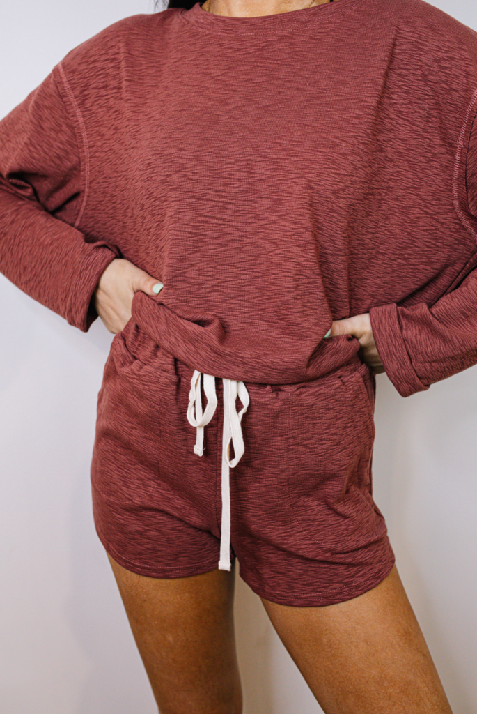 knit lounge short