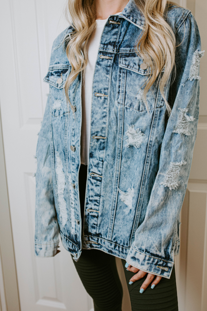 Haley Distressed Denim Jacket