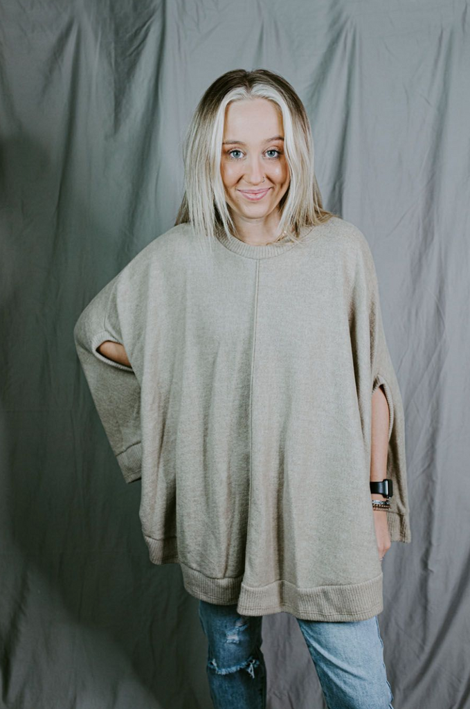 soft sleeveless poncho
