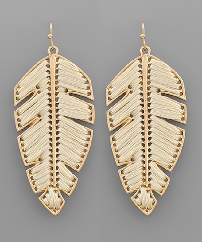 Leaf Thread Earrings