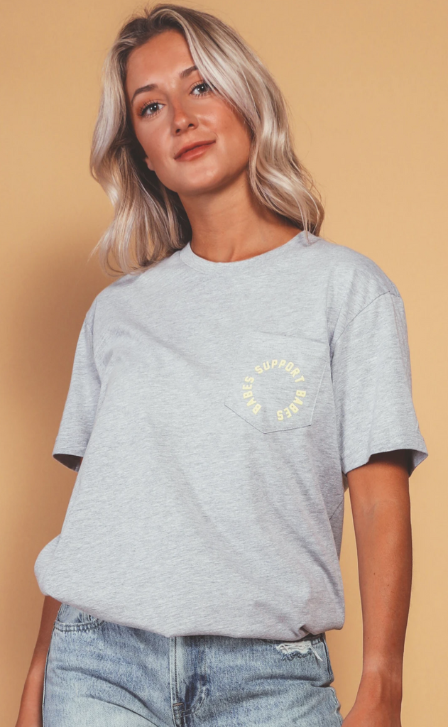 Babes Support Babes Pocket Tee Shirt