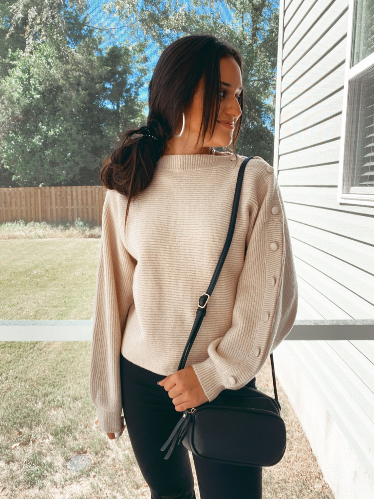 Autumn Button Sleeve Sweater