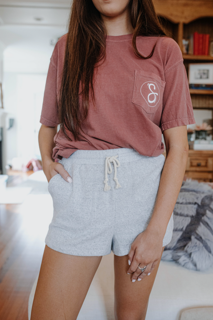 Drawstring Waist Lounge Shorts