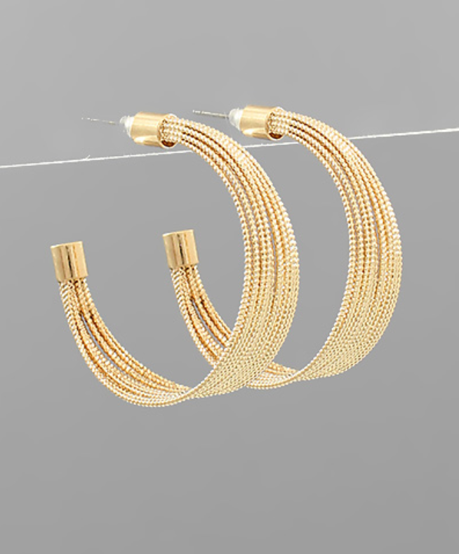 Multi Layer Metallic Hoops
