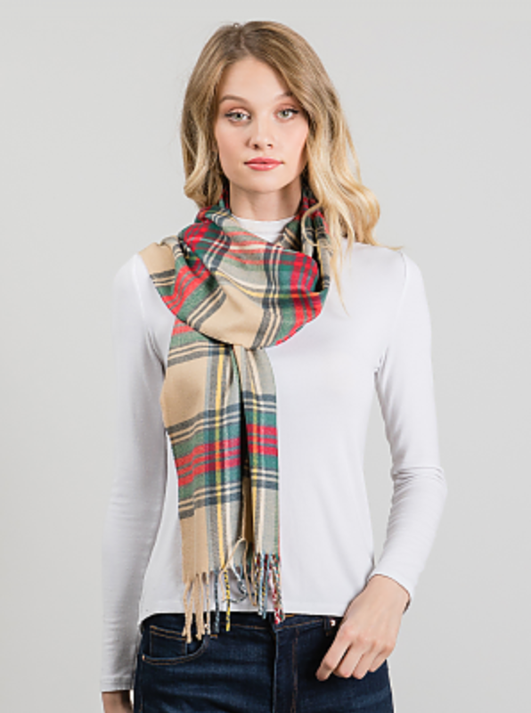 Warm Up Plaid Scarf