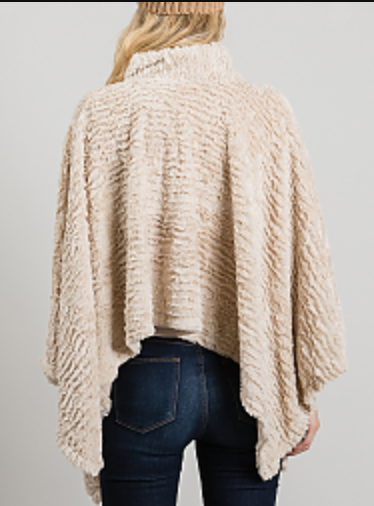 Soft Faux Fur Poncho