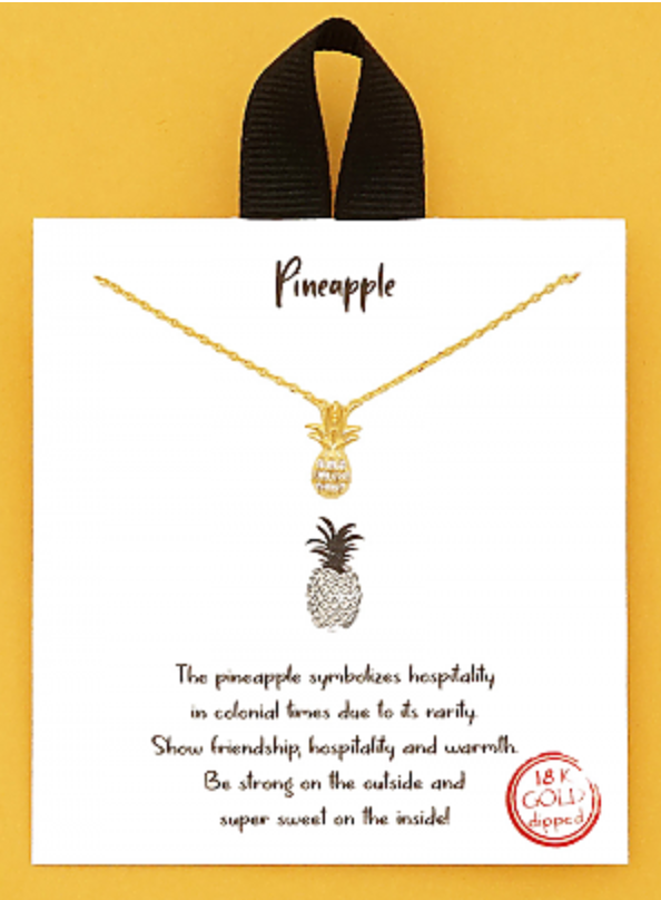 Crystal Pineapple Necklace