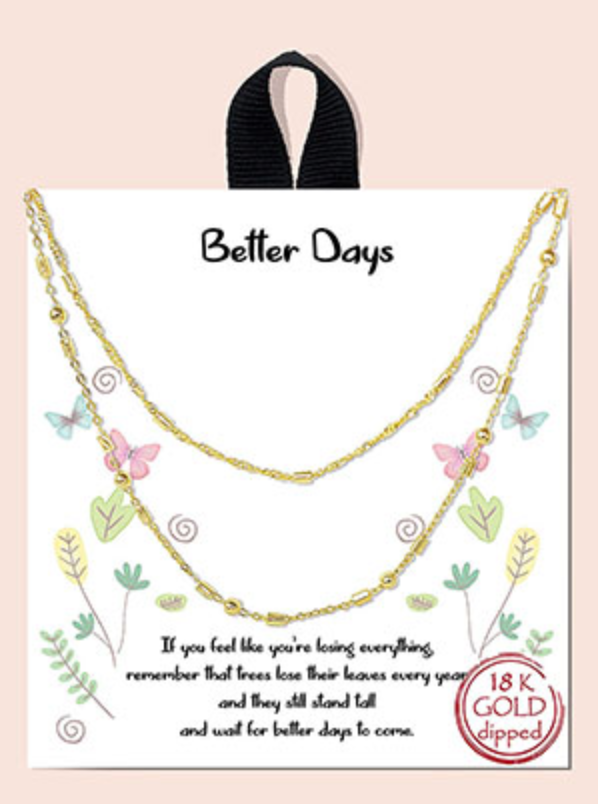 Better Days Layered Chain Necklace