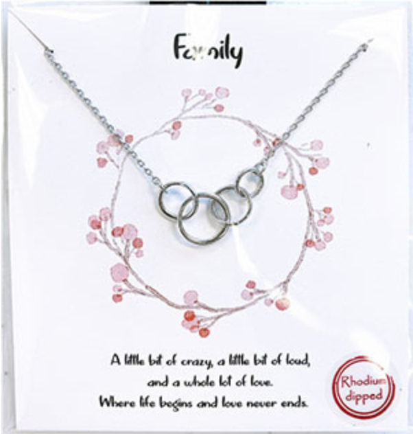 Family Circles Pendant Necklace