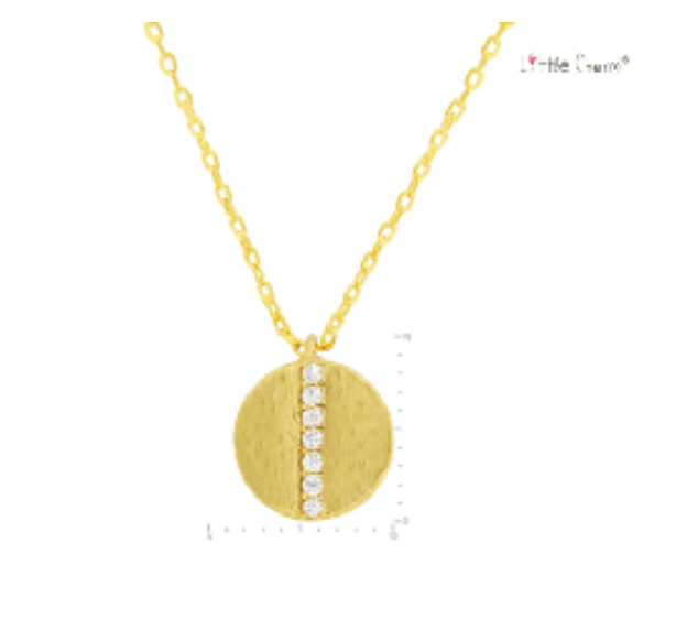 Round Crystal Pave Necklace