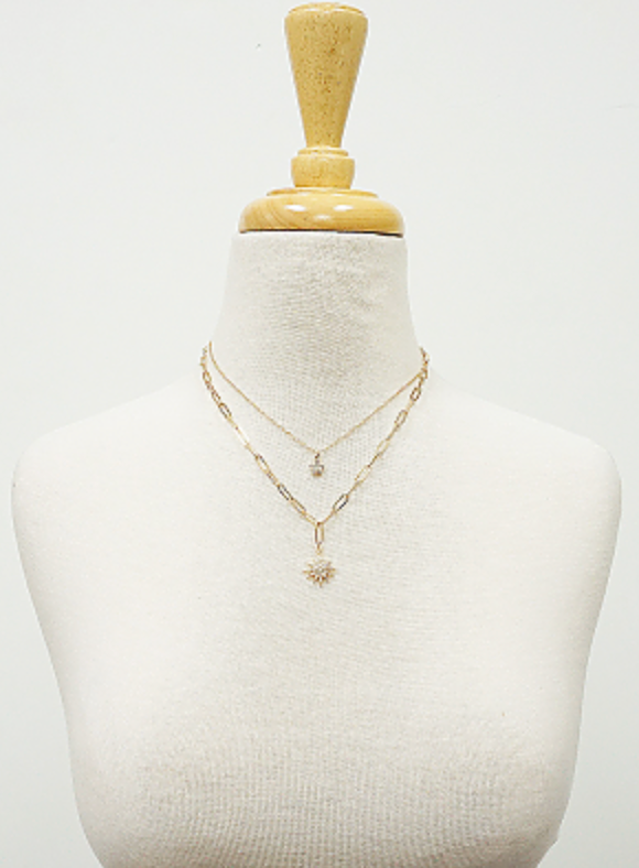 Celestial Stars Double Layered Necklace