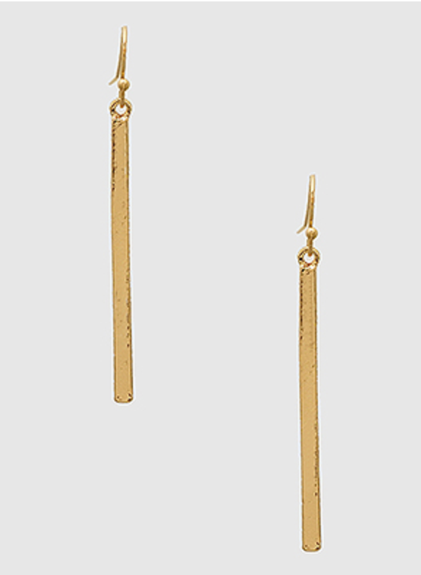 Thin Bar Drop Earrings