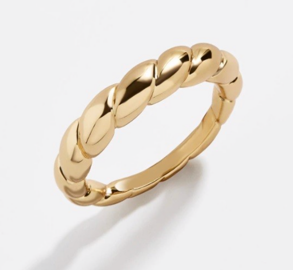 Simple Twisted Gold Ring