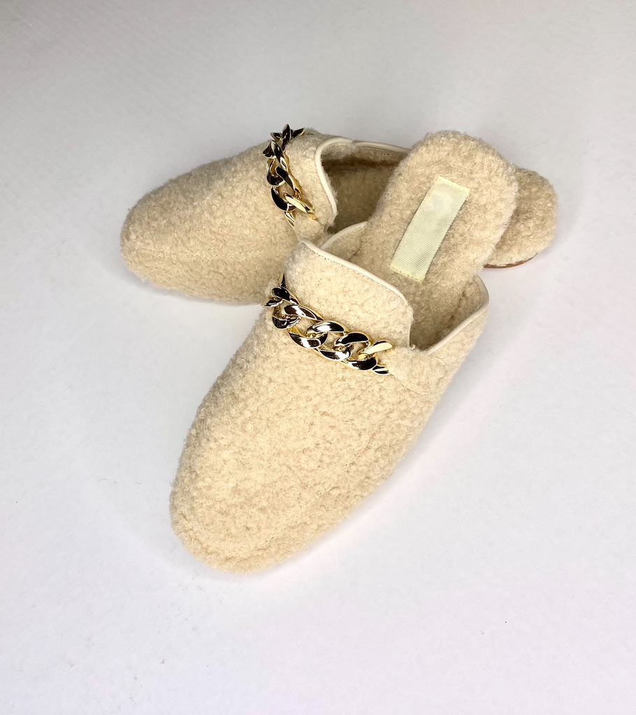 Soft Slip On Sherpa Mules