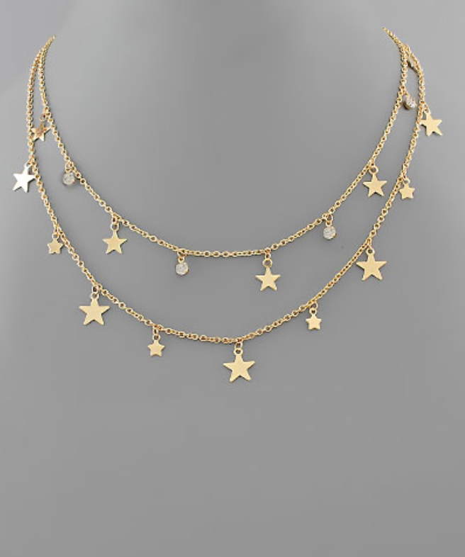 layered star necklace