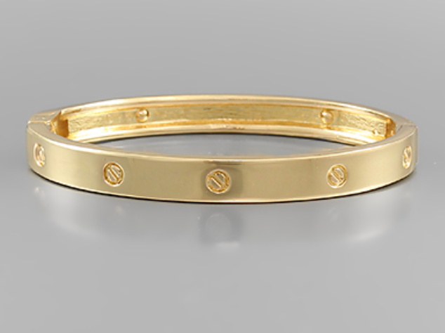 Engraved Hinge Bangle