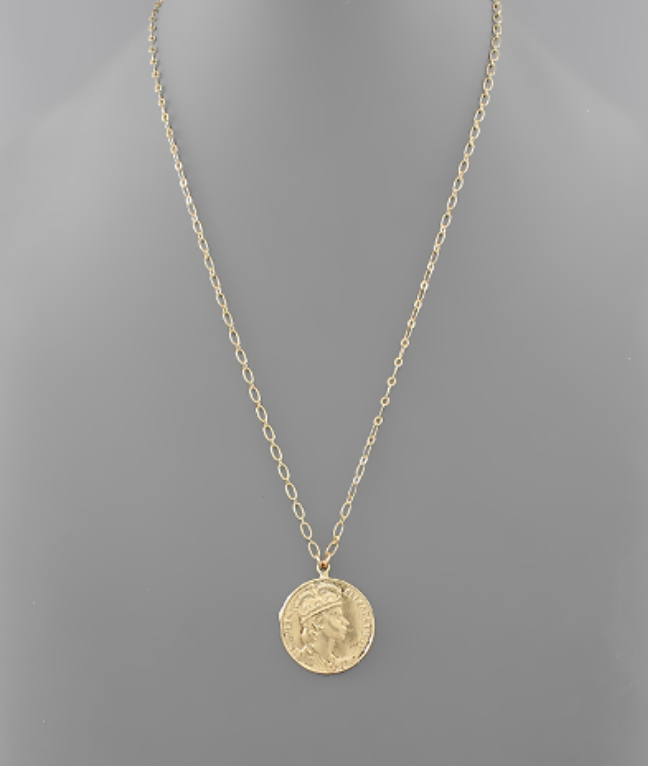 Long Coin Necklace