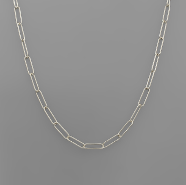 Large Paperclip Chain Necklace