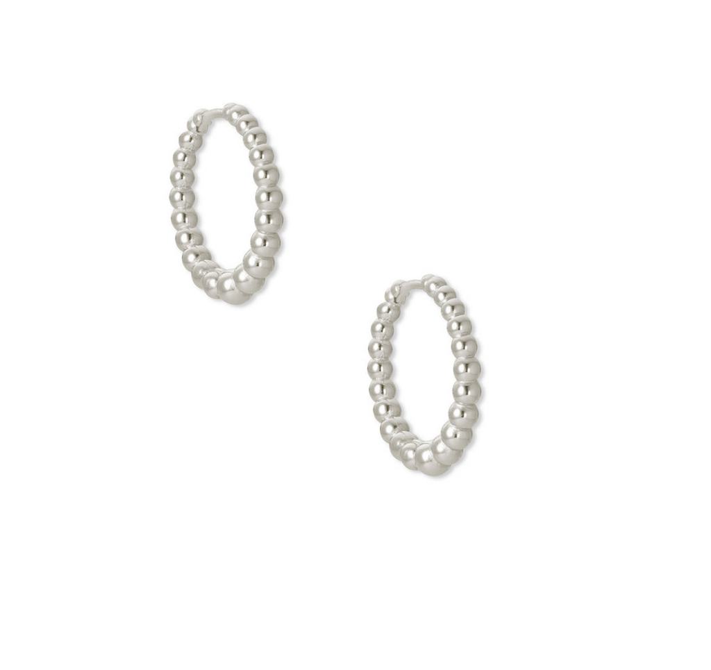 kendra scott silver huggies