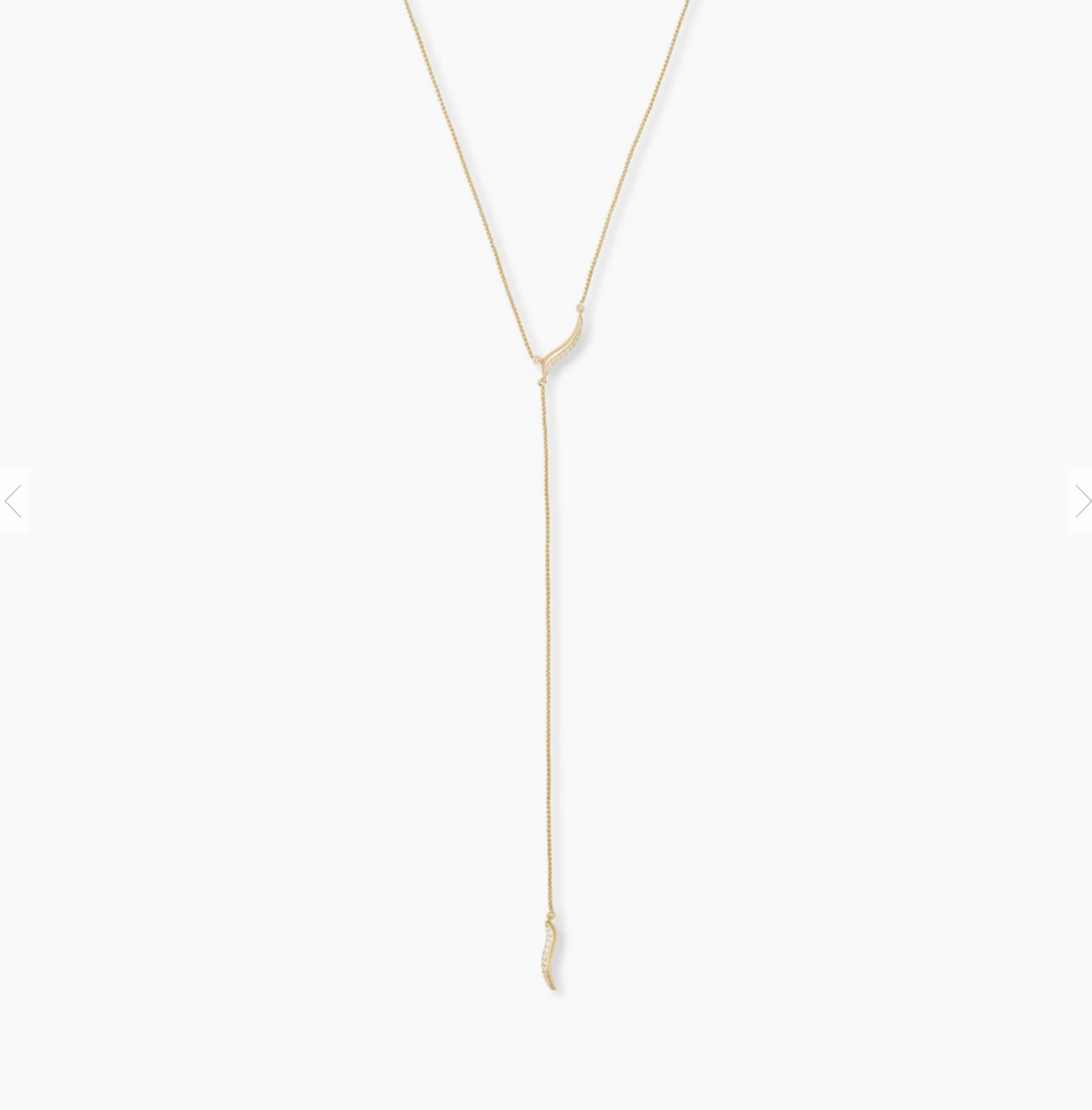Kendra scott gold y necklace