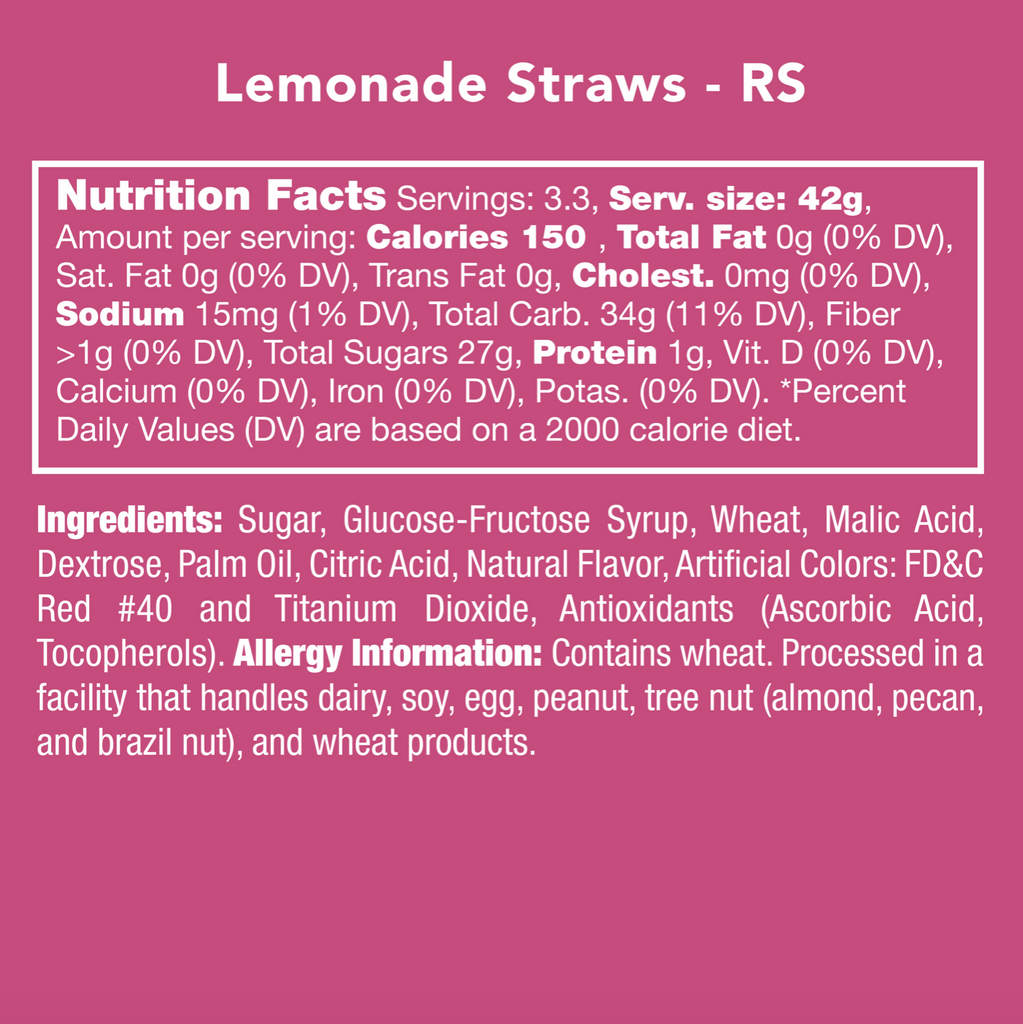 Candy Club Lemonade Straws