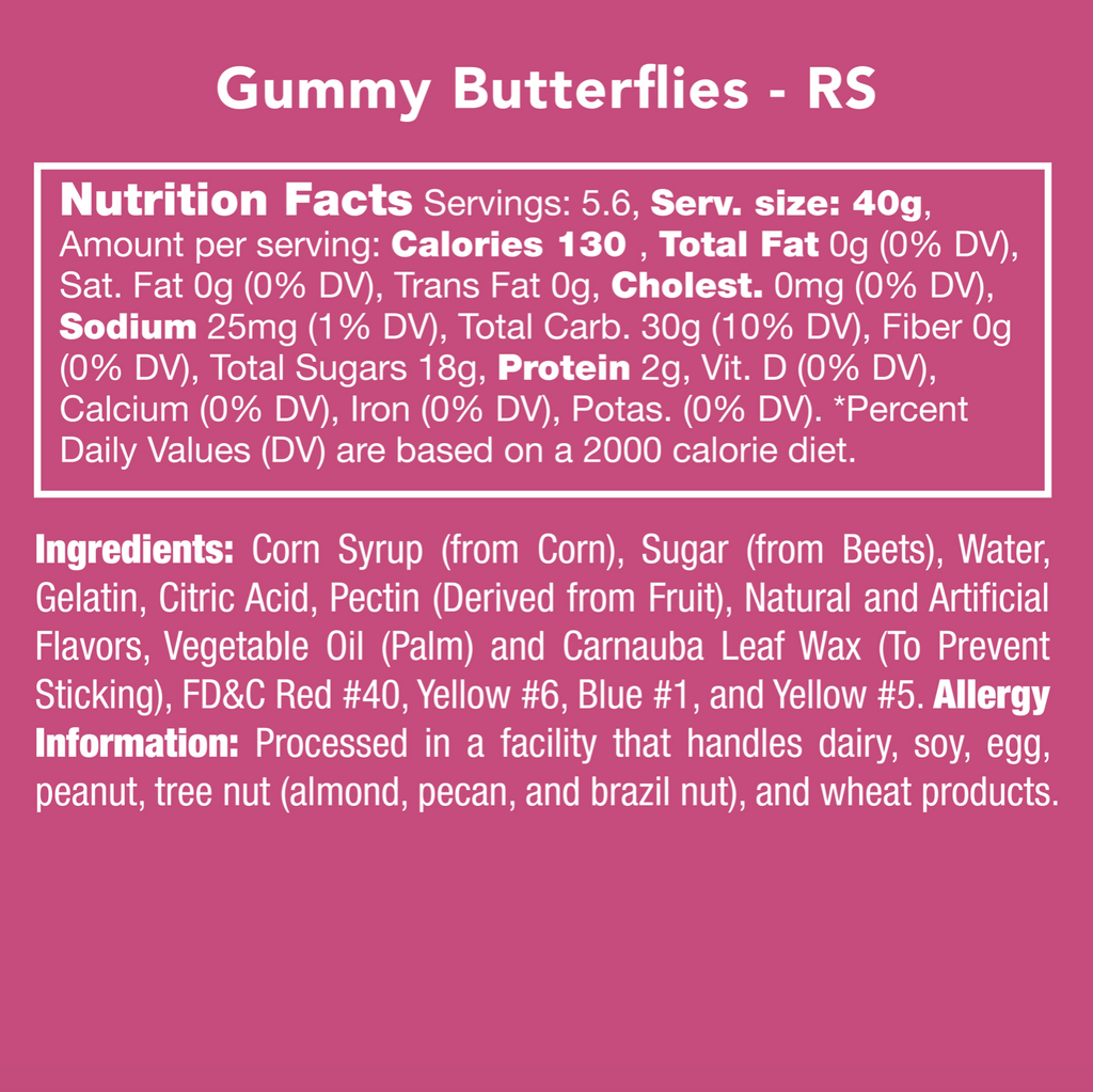 Candy Club Gummy Butterflies