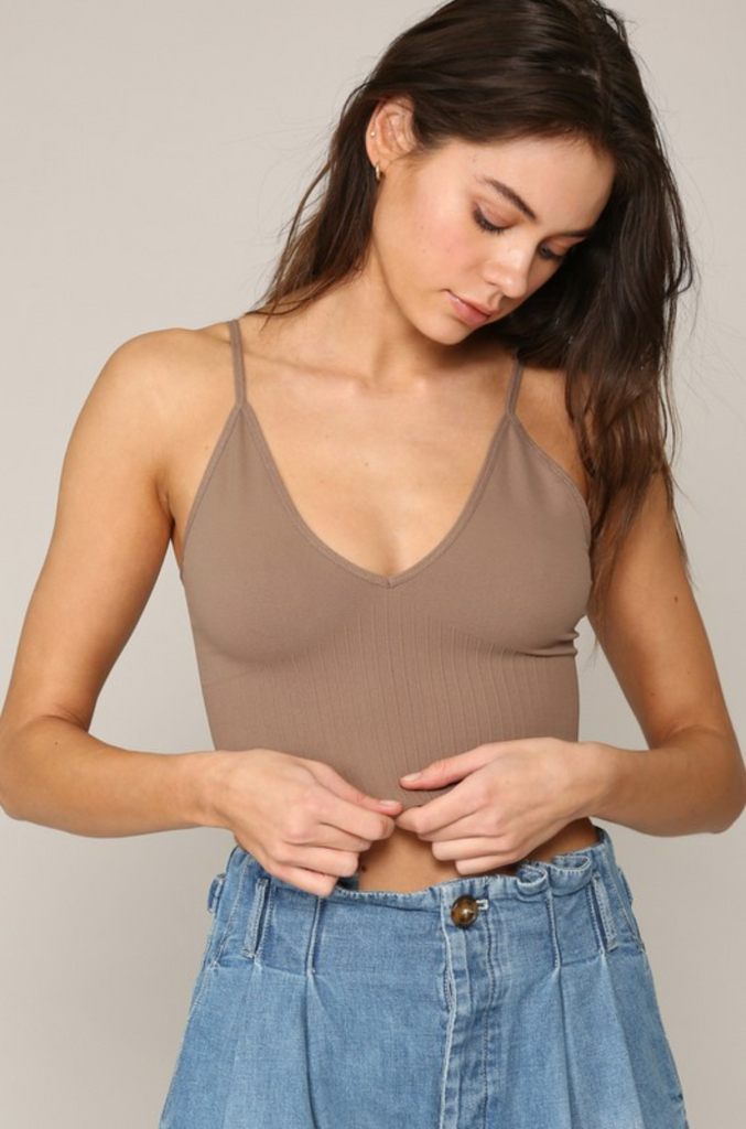 Seamless V Neck Plunge Back Brami