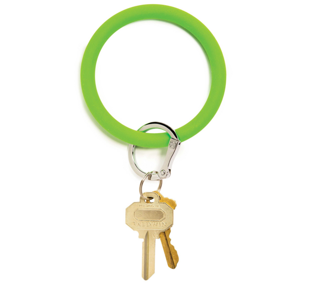 lime green o ring keychain