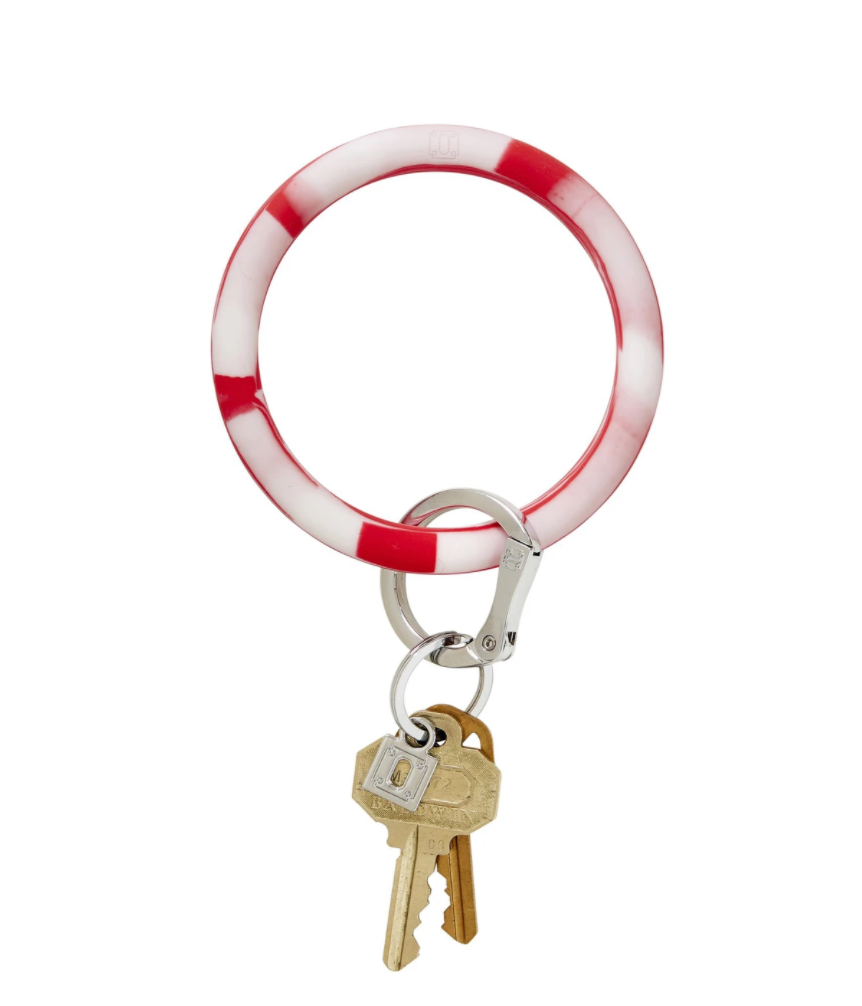 red marble o ring keychain