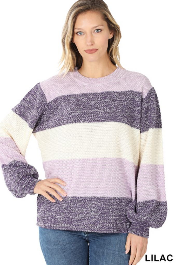 Chloe Color Block Sweater