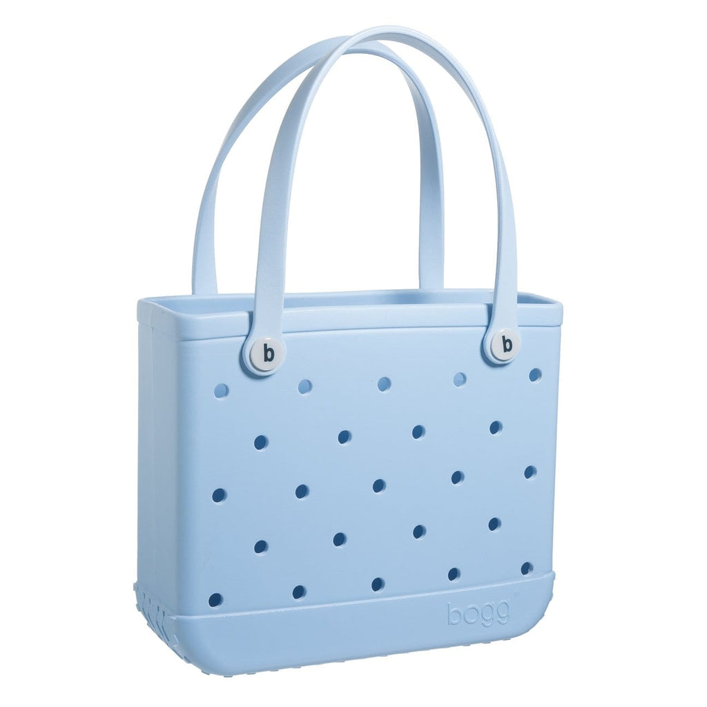 light blue small bogg bag