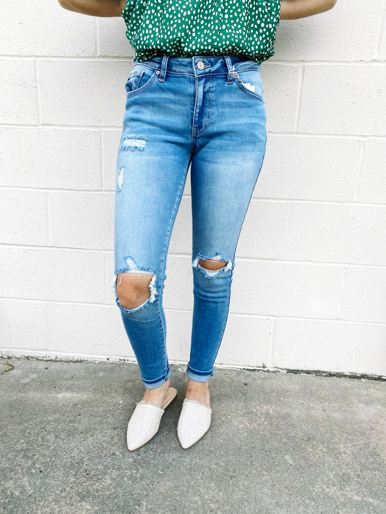 Anna Distressed Skinny Jeans