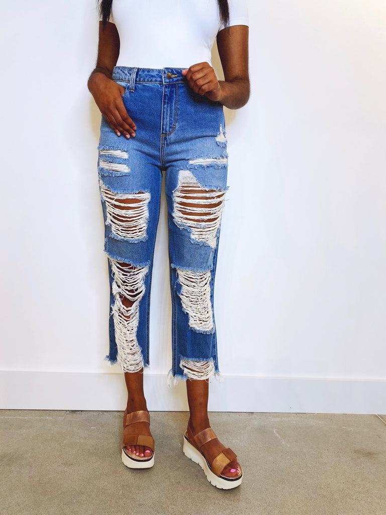Orion Distressed Boyfriend Jeans