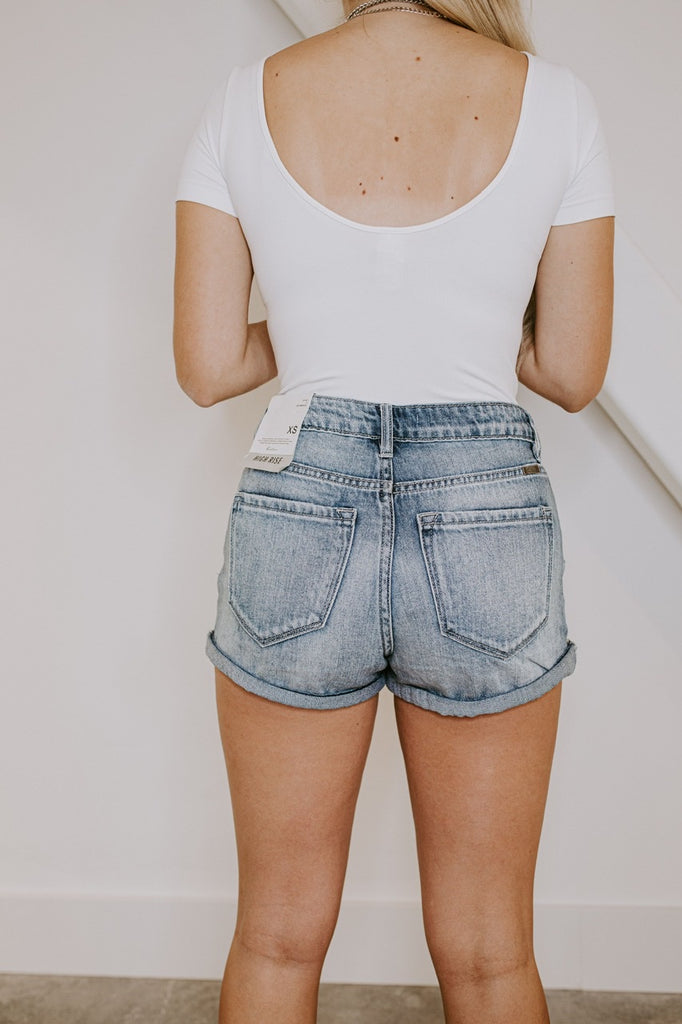 Everyday High Rise Denim Shorts