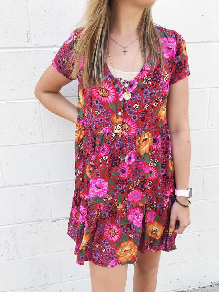 Flower Child Babydoll Dress