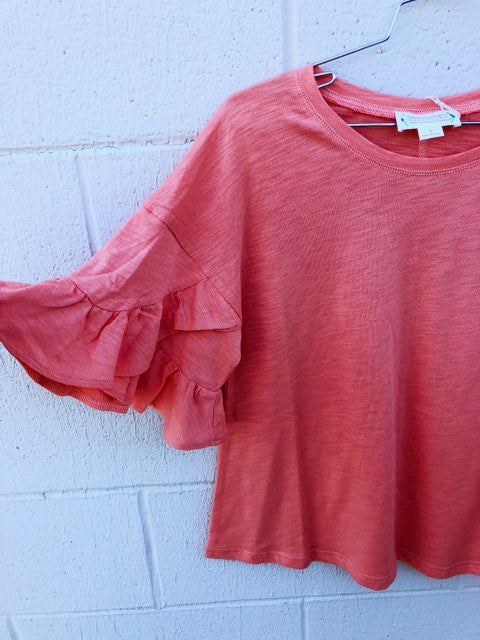 Flutter Sleeve Cotton Tee