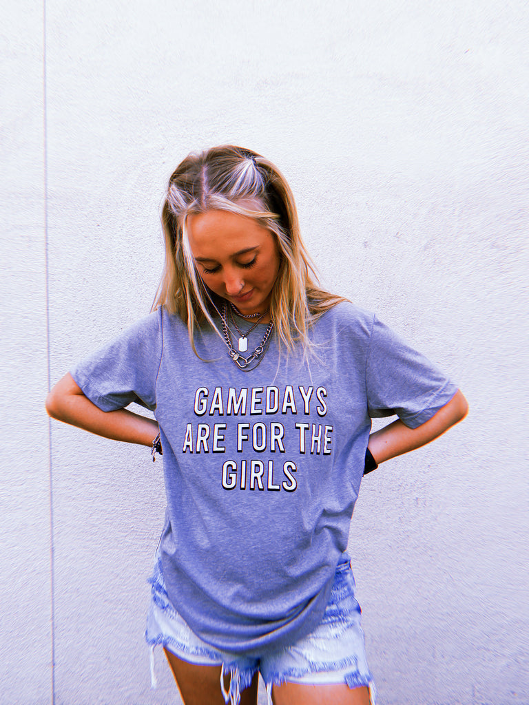 gamedays are for the girls tee shirt