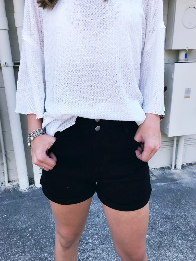 Vintage Distressed Denim Short