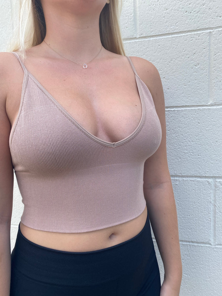 Seamless Ribbed Brami Top