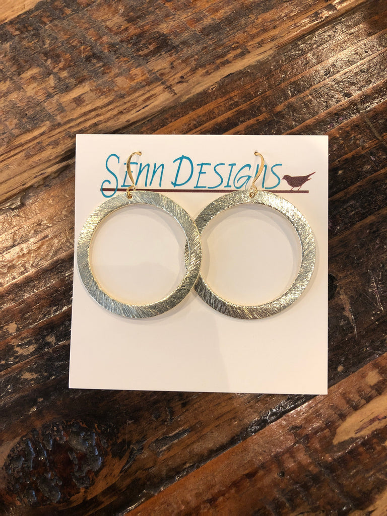 Basic Gold Circle Earrings - SSD