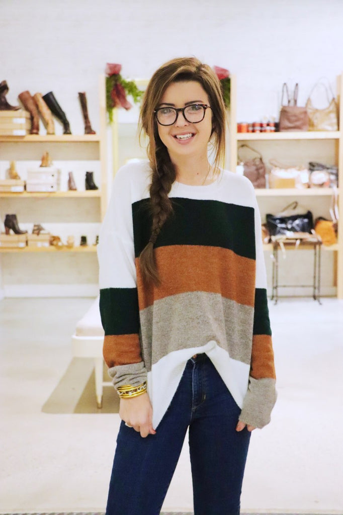 Ultra Soft Color Block Sweater