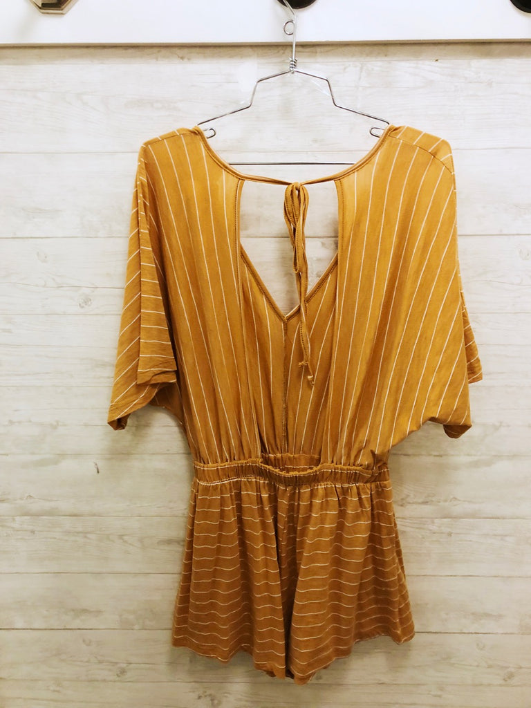 Stripe Open Back Romper