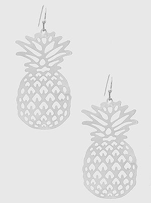 Pineapple Shaped Lightweight Metal Earrings