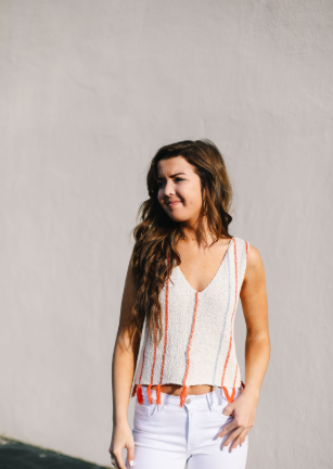 Knit Tank with Tassel Bottom