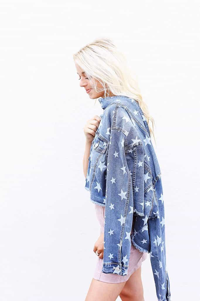 Star Printed Denim Jacket