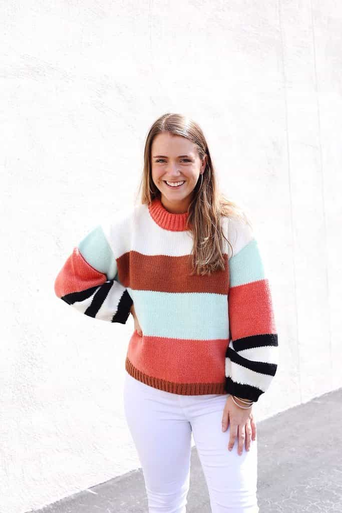 Too Cozy Color Block Sweater