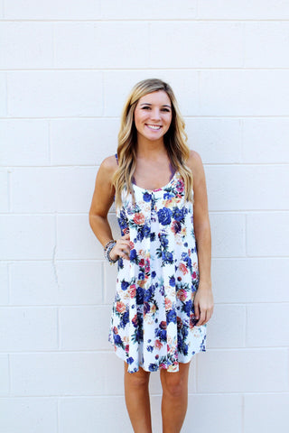 Flower Multi Strappy Dress