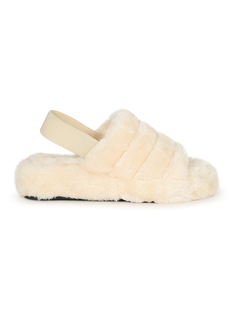 Warm Up Soft Fur Slides