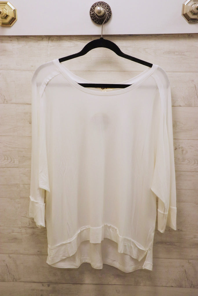 Casual Slouchy Round Neck Top